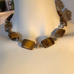 Jewelry - New Tigers Eye & Freshwater Pearl Necklace